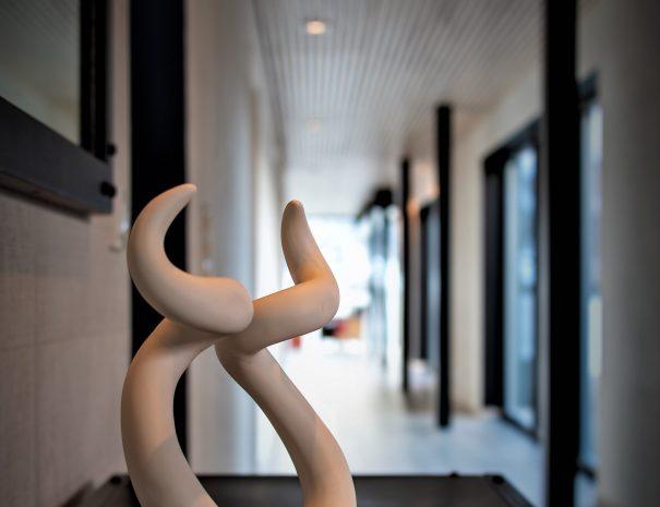 Argentina inspired figurine in hallway