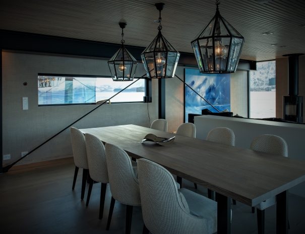 the fisherman long table in living room